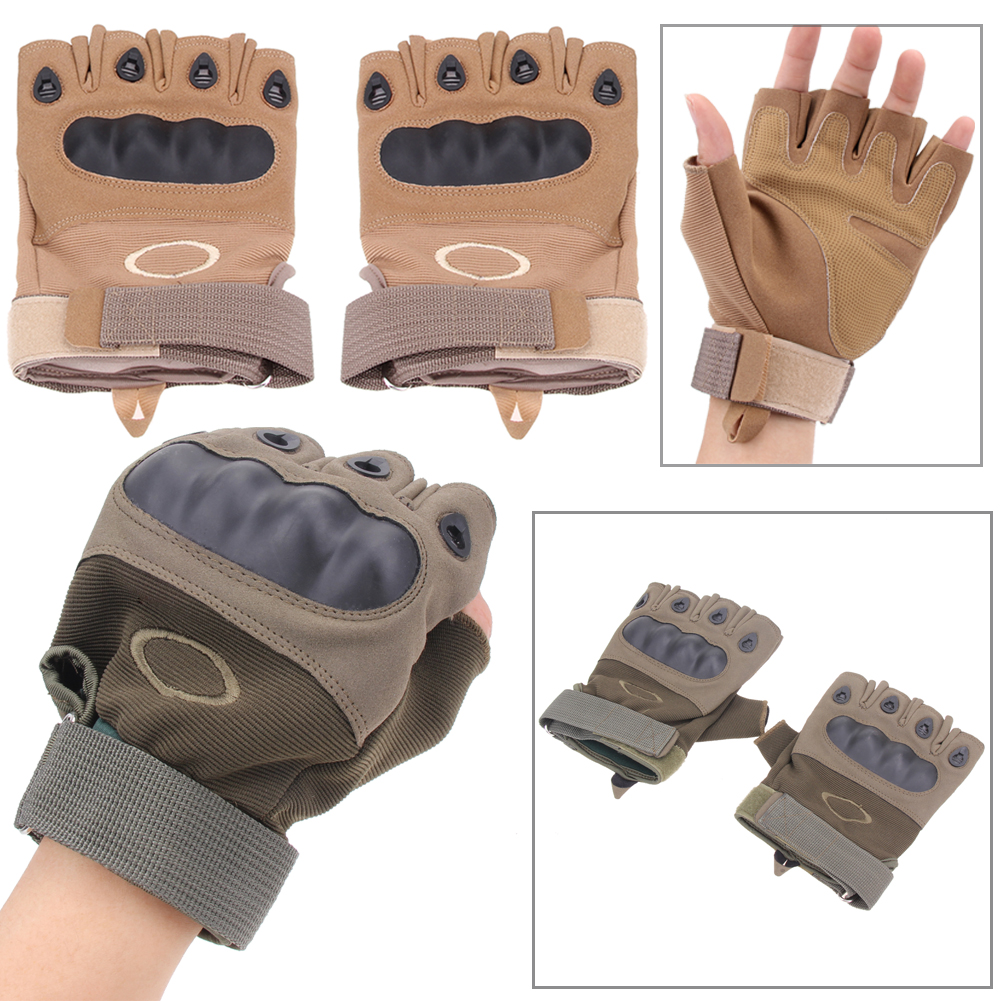New Arrival 1 Pair Gloves Cycling Military Tactical Half Finger Gloves Riding Climbing 23~24cm Black Cycling Gloves Hot