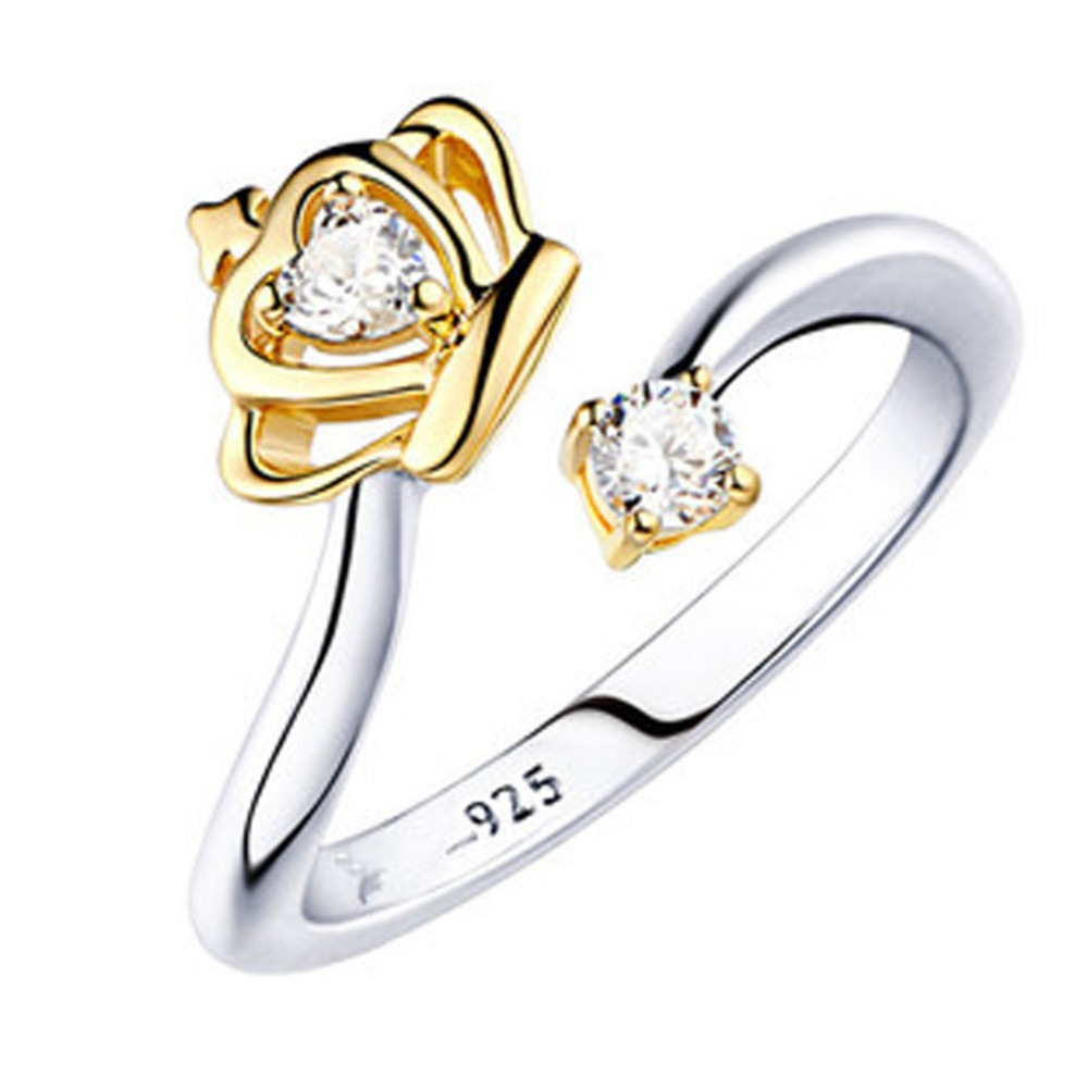 2016 New Fashion Silver Plated Queen Crown Adjustable Ring Wedding Ring For Women Fashion Christmas Gift RG0045(China (Mainland))