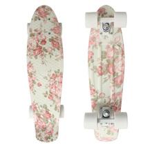 "Floral  Graphic Printed Mini Cruiser Plastic Skateboard 22"" X 6"" Retro Longboard Skate Long Board(China (Mainland))"