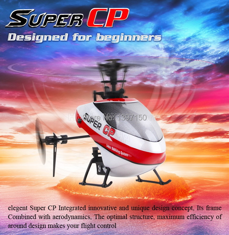 Walkera Super CP 6CH 3D RC Helicopter work with DEVO 6S  DEVO7 DEVO 7E DEVO F7 DEVO10 DEVO8S  DEVO 12S Optional Transmitter <br><br>Aliexpress