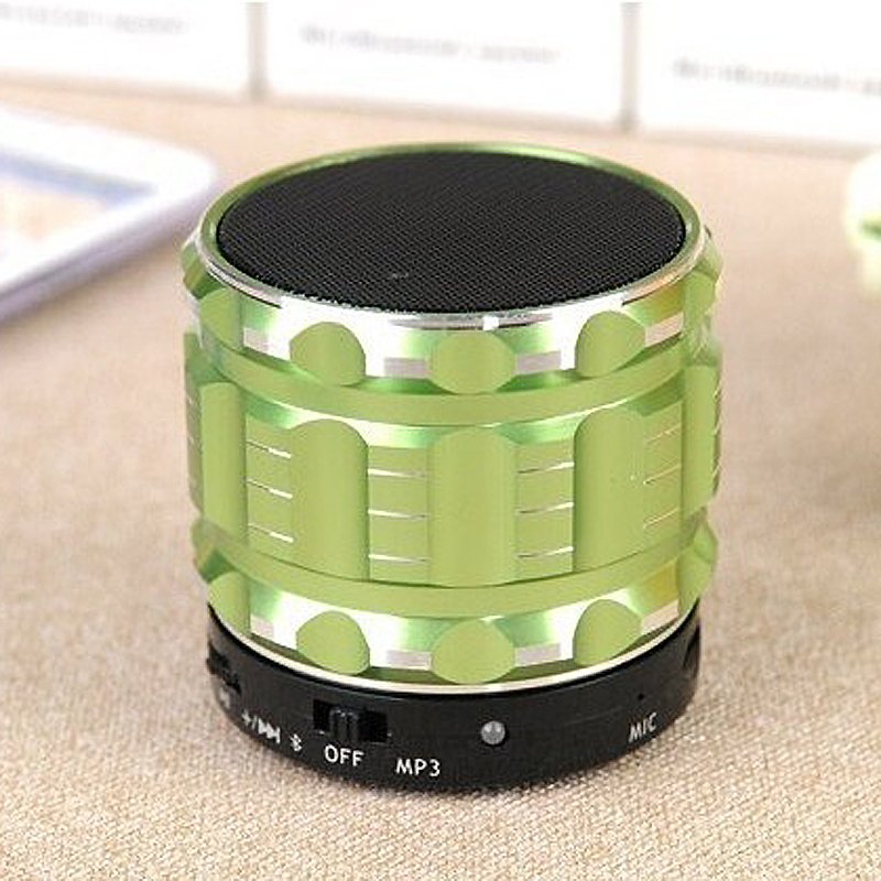 S28 Metal Mini Green Portable Handfree Bluetooth Speaker Mic+TF Card Slot Wireless Stereo Speakers Laptop/PC/ MP3/4 Player - panton store