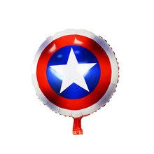 Marvel Super Heroes Avengers Capitão América Thor Homem De Ferro Hulk Spiderman Figura Brinquedos Decorações Da Festa de Aniversário Balões Foil(China)