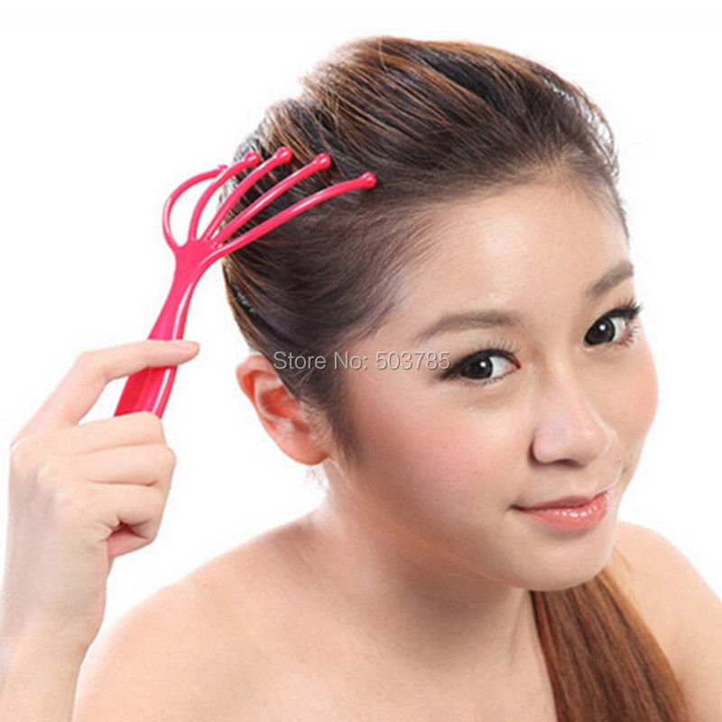 Health Care Handle Body Neck Head Massager Scalp Brush Stress Relax Muscle Sculptor headache pain relief therapy device(China (Mainland))