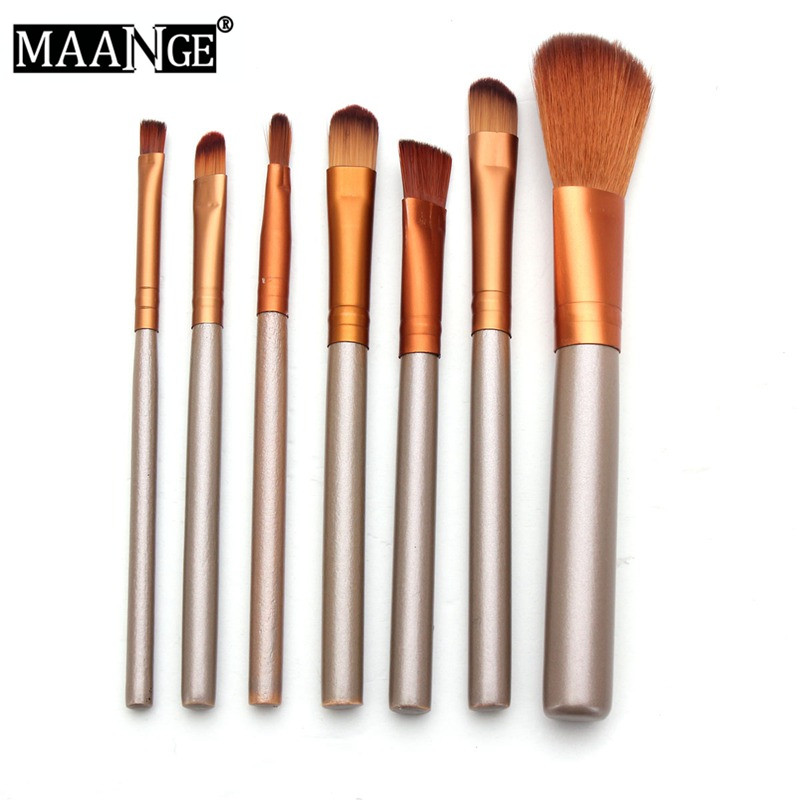 Pro Makeup Brushes Set 7Pcs Foundation Concealer Blending Blush Comestic Brush Kit Beauty Tool High Quality