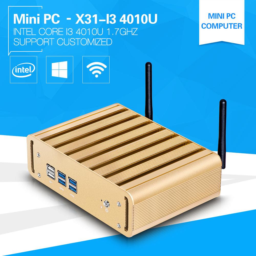 XCY Newest OEM Thin Client i3-4010U 1.6GHz Mini PC with 4G RAM Msata Embedded Audio Vedio 1080p Windows7 Home Preminum VGA+HDMI(China (Mainland))