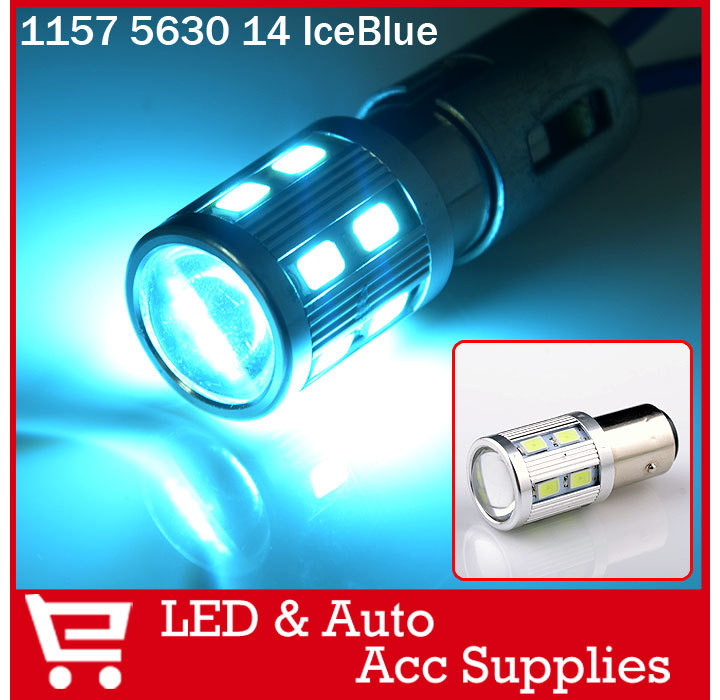 2X Briliant Red/Amber Yellow/Ice Blue/Navy Blue 1157 BAY15D 14 5630 LED Turning Signal Front Rear Light Bulb Lamp(China (Mainland))