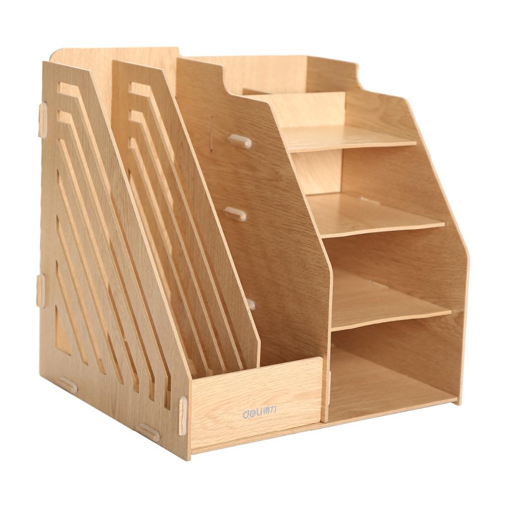 Desktop File Organizer File Wooden