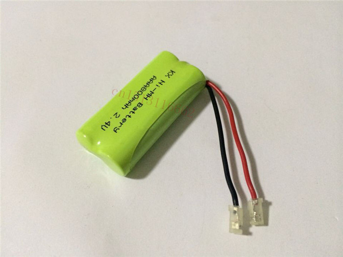 2PCS/lot Original New Ni-MH AAA 2.4V 800mAh Ni MH Rechargeable Battery Pack With Plugs For Cordless Phone Free Shipping(China (Mainland))