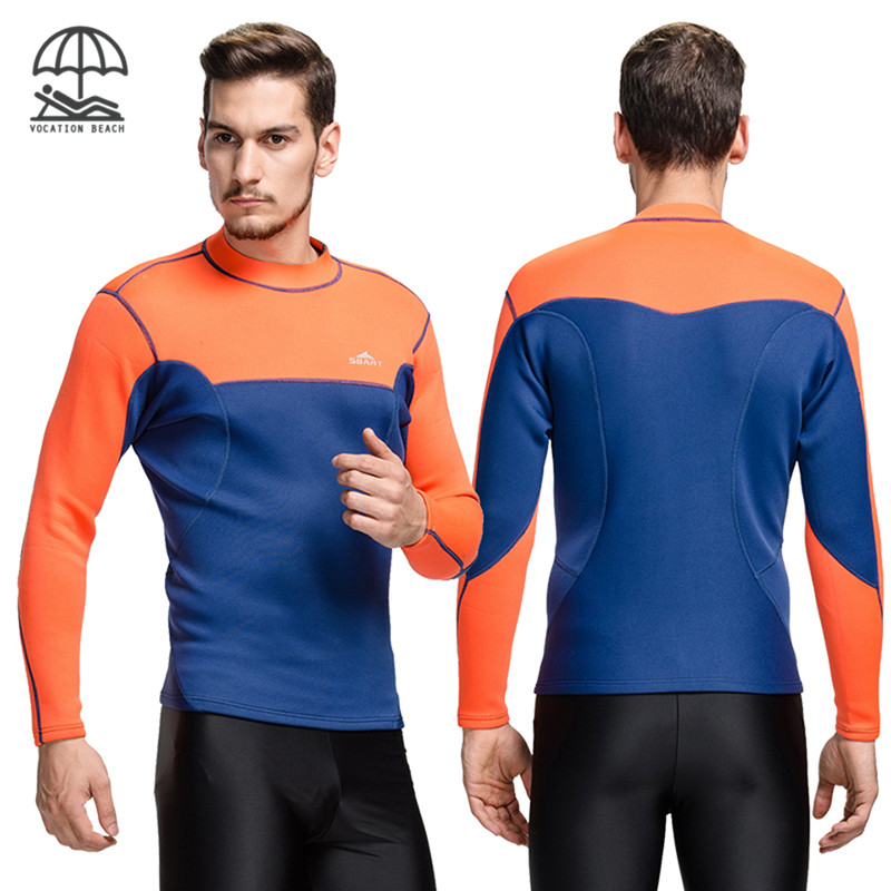 SBART Neoprene Slim Cutting Tight Surfing Diving Jacket Thermal High-elastic Top Wetsuits Sports Snorkel Scuba Dive Clothing(China (Mainland))