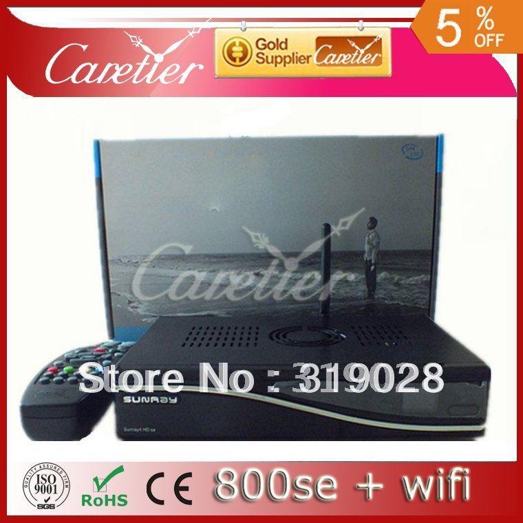 M800se Wifi 300mbps WLAN Inside DVB 800 se SIM2.10 BCM4505 Tuner Set Top Box Sunray 800se Wifi Wholesale (2pcs 800se wifi)(China (Mainland))