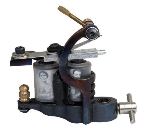 Hot Sale Tattoo Machine 10 Warps Custom Cheap-Tattoo-Machines Cast Iron Liner Shader Handmade parts coils frame Tattoo Machine(China (Mainland))