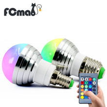 Buy E27 E14 AC110V 220V 3W LED RGB Bulb lamp LED RGB Spot light dimmable magic Holiday RGB lighting+IR Remote Control 16 colors for $3.03 in AliExpress store