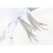 Buy AAA Cubic Zirconia Earrings Women Tassel Earrings Gold Plated Copper Long Dangle Earrings Bridesmaid Jewelry 3 Color for $10.49 in AliExpress store