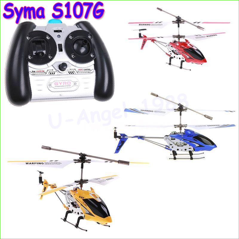 Original Original 3.5CH RC Helicopter with gyro Radio Control Metal Syma S107G S107 alloy fuselage R/C Helicoptero Free Shipping(China (Mainland))