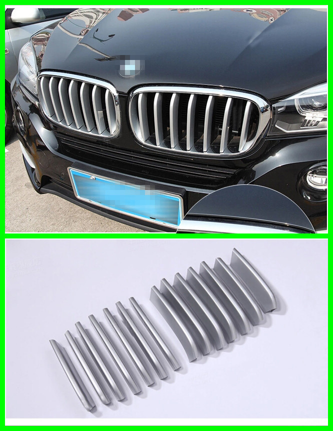 ABS CHROME Front Grille Grill cover molding trim 7PCS for BMW X6 F16 2015<br><br>Aliexpress