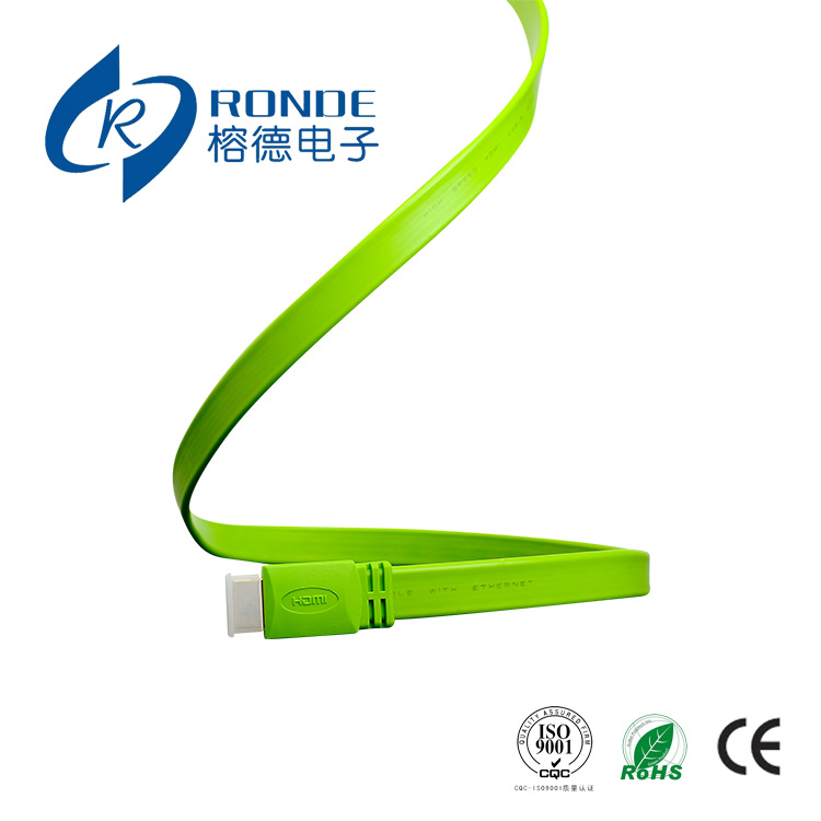 1.5m Male to Male 1080P Audio Cable HDMI Green Color to HDTV Video hdmi color(China (Mainland))
