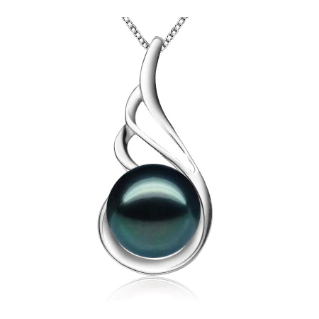 Simple 925 silver pendant necklace fashion genuine freshwater pearl necklace&pendant for women 8-9mm(China (Mainland))