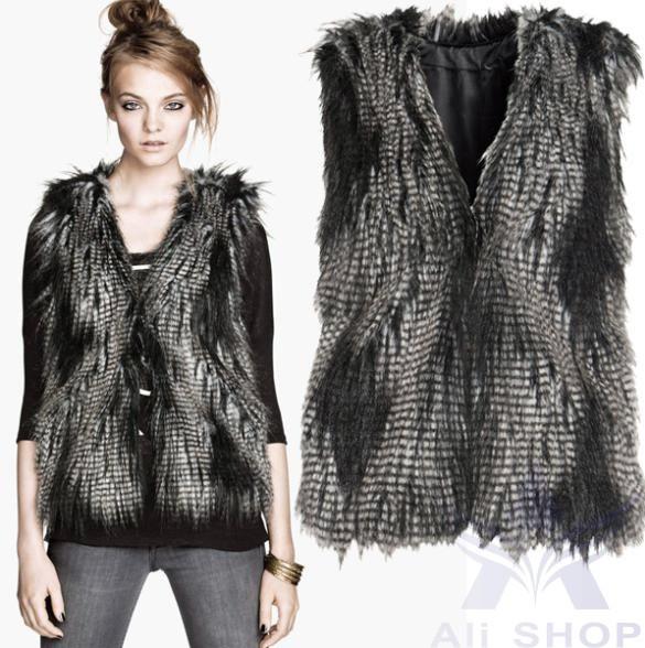 Женская одежда из меха Vest  SV005841
