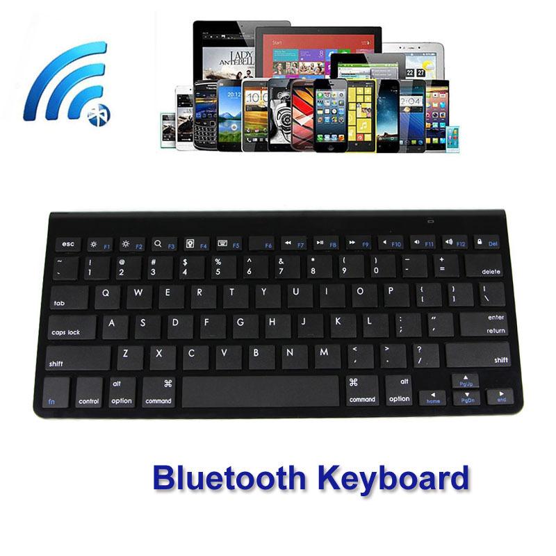Fashion Design Ultra Slim Multimedia Aluminum Wireless Bluetooth Keyboard For IOS Android PC Windows samsung smart tv keyboard(China (Mainland))