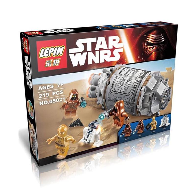 LEPIN 05021 Star Wars Droid Escape Pod 75136 Minifigure Building Blocks Set Bricks Toys The Force Awakens Compatible With Legoe(China (Mainland))