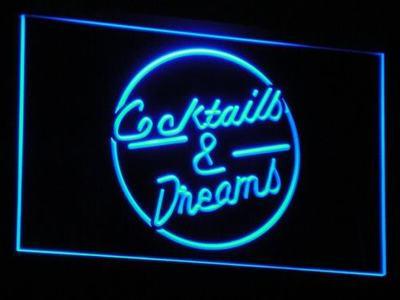 i079-b Cocktails & Dream Beer Bar Wine LED Neon Light Sign(China (Mainland))