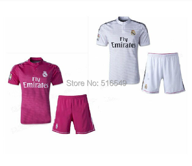 2014 2013 top quality real madrid home away  soccer jerseys kit, OZIL #10 RONALDO #7football shirt &shorts