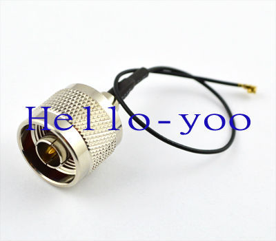10pcs/lot Extension Cord N plug male to ufl/IPX female Jack connector pigtail cable 1.13 cable 15cm free shipping