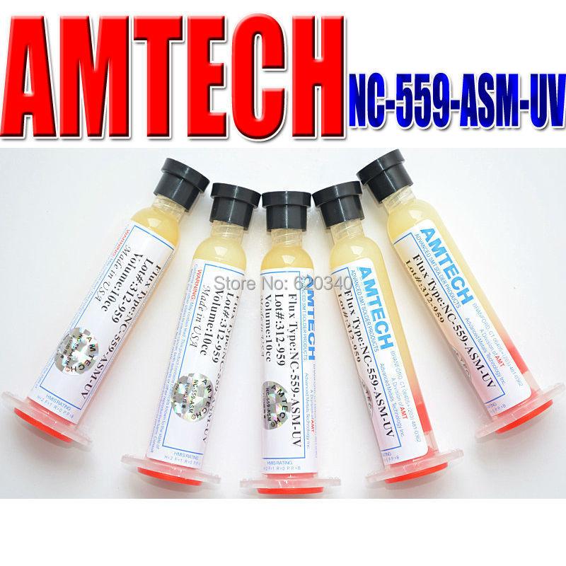 Singapore Post Free shipping 5pcs AMTECH NC-559-ASM-UV PCB BGA Reballing Solder Ball Repair Solder Paste soldering flux 10CC(China (Mainland))