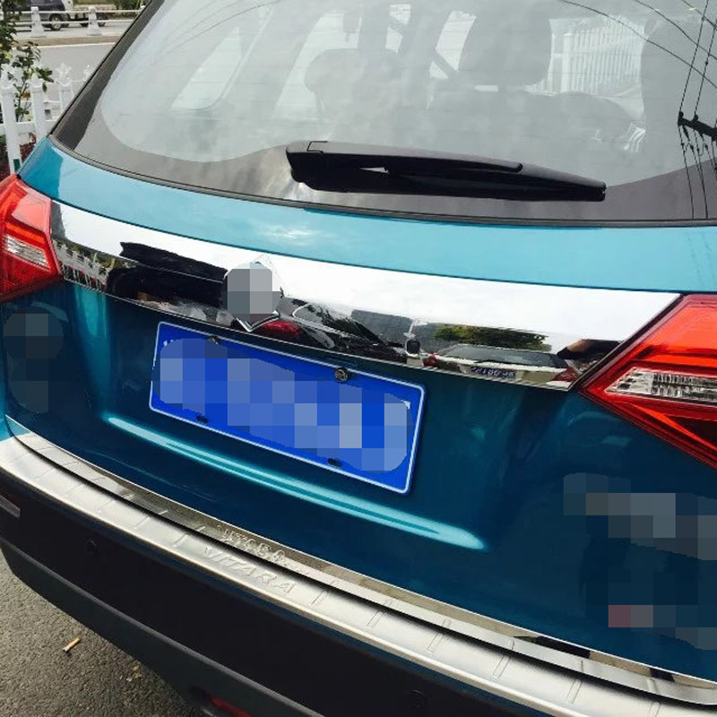 High Quality ABS Chrome Rear Trunk Streamer For Suzuki Vitara 2015 Body Parts(China (Mainland))