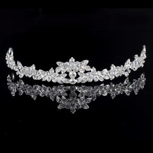 HOT Elegant Sparkly Crystal Rhinestone Crown Tiara Wedding Prom Bride's Headband wedding headband(China (Mainland))