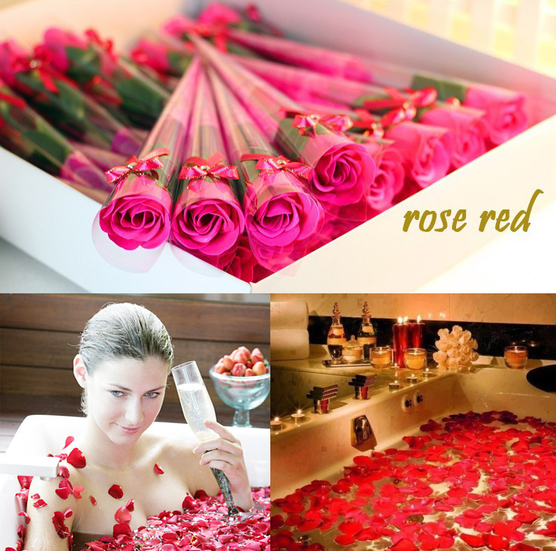 15pcs/lot Rose Soap Flower for Wedding Favors Gift/Christmas Decoration/girlfriend birthday/Valentine present/Romantic lovelife(China (Mainland))