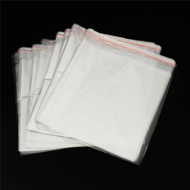 100pcs clear resealable cellophane bopp poly bags 40 50 cm