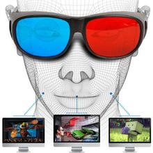 2015 Cool Universal Type 3D Glasses Red Blue Cyan Anaglyph 3D Plastic Glasses TV Movie Video DVD Game Cinema 3D Vision Glasses(China (Mainland))