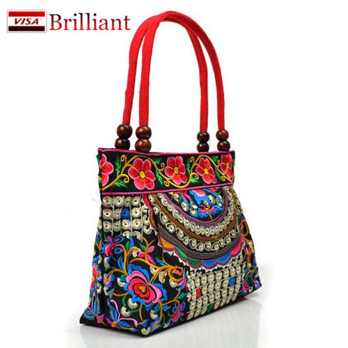 Chinese Style Cotton Bag Women Handbag Embroidery Ethnic Summer Fashion Handmade Flowers Ladies Tote Shoulder Bags Cross-body A2(China (Mainland))