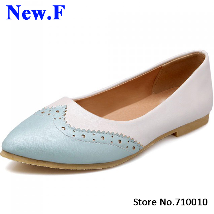 2015 new women flats Casual Solid Plain pointed Toe ladies flat shoes fashion mixed colors party shoes size 34-43<br><br>Aliexpress