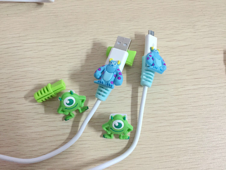 10pair/lot.Monsters University mobile phone cable protector for Android Cables.for Micro USB(China (Mainland))