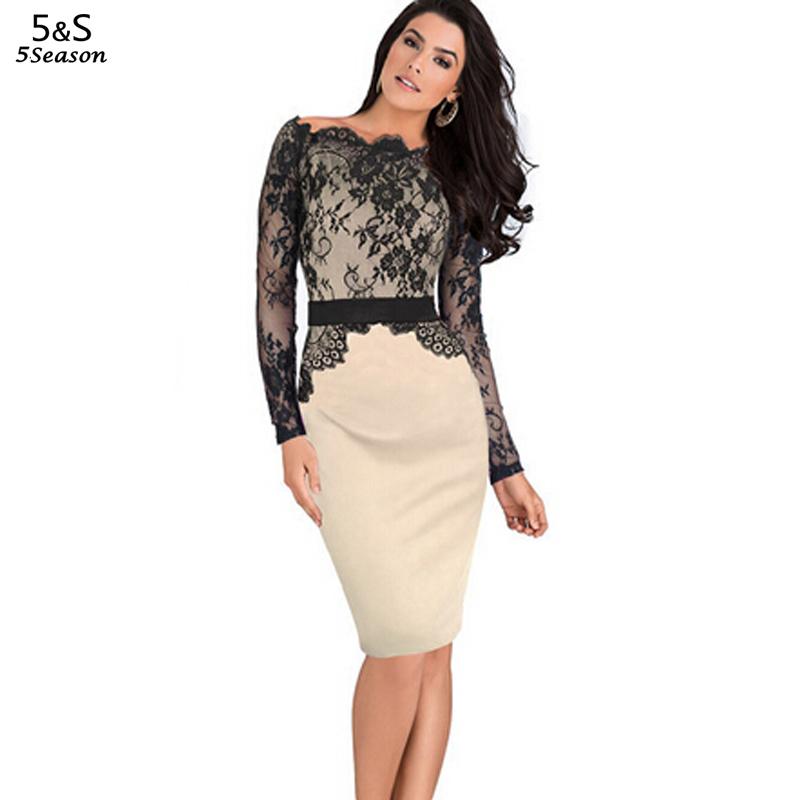 Платье облегающее рабочий длинный рукав, лето женщины элегантный леди длиной до