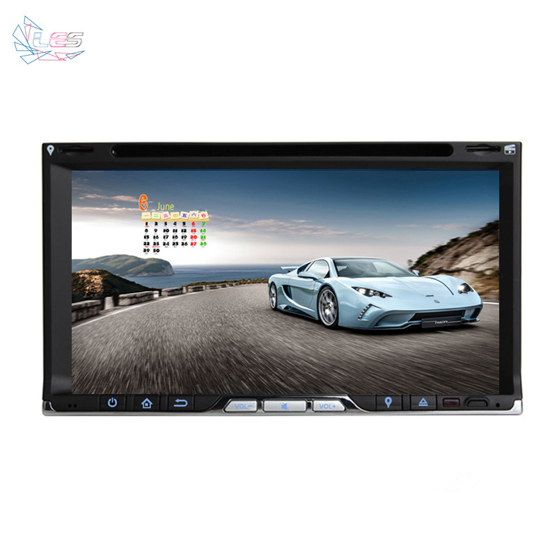 """2 Din Universal 6.95"""" Touch Screen Car Stereo Radio With CD MP4 MP3 Video Player DVD GPS Navigation Bluetooth Car Tracking(China (Mainland))"""