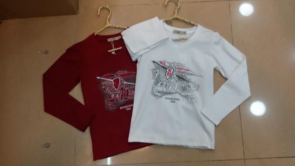 Wholesale 2014 new brand boy 39 s cotton t shirt baby kids for 100 cotton v neck t shirts wholesale