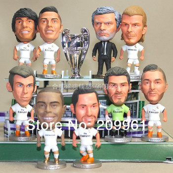 wholesale free shipping Real Madrid football soccer player star collection doll cartoon toys 13 Pieces/set Ronaldo kaka Benzema