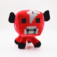 "On Sale Fashion Children Red Mooshroom Cow Soft Plush Toy 15cm/5.9"" Creeper Zombie Ghost Doll Xmas Gift Game(China (Mainland))"