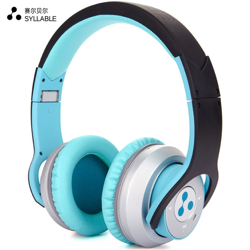 Syllable G800 Stereo Bluetooth 4.0 Headphone 1.8 Times 3.5mm HIFI 320 Hours Standby Double Microphone For iphone Blue(China (Mainland))