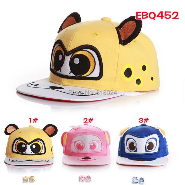 Мальчики-младенцы девочки снэпбэк шляпы шапки бейсбол кепка дети дети комикс животное в форме хип-хоп шляпы шапочки 3 - 7 лет 3 цвета