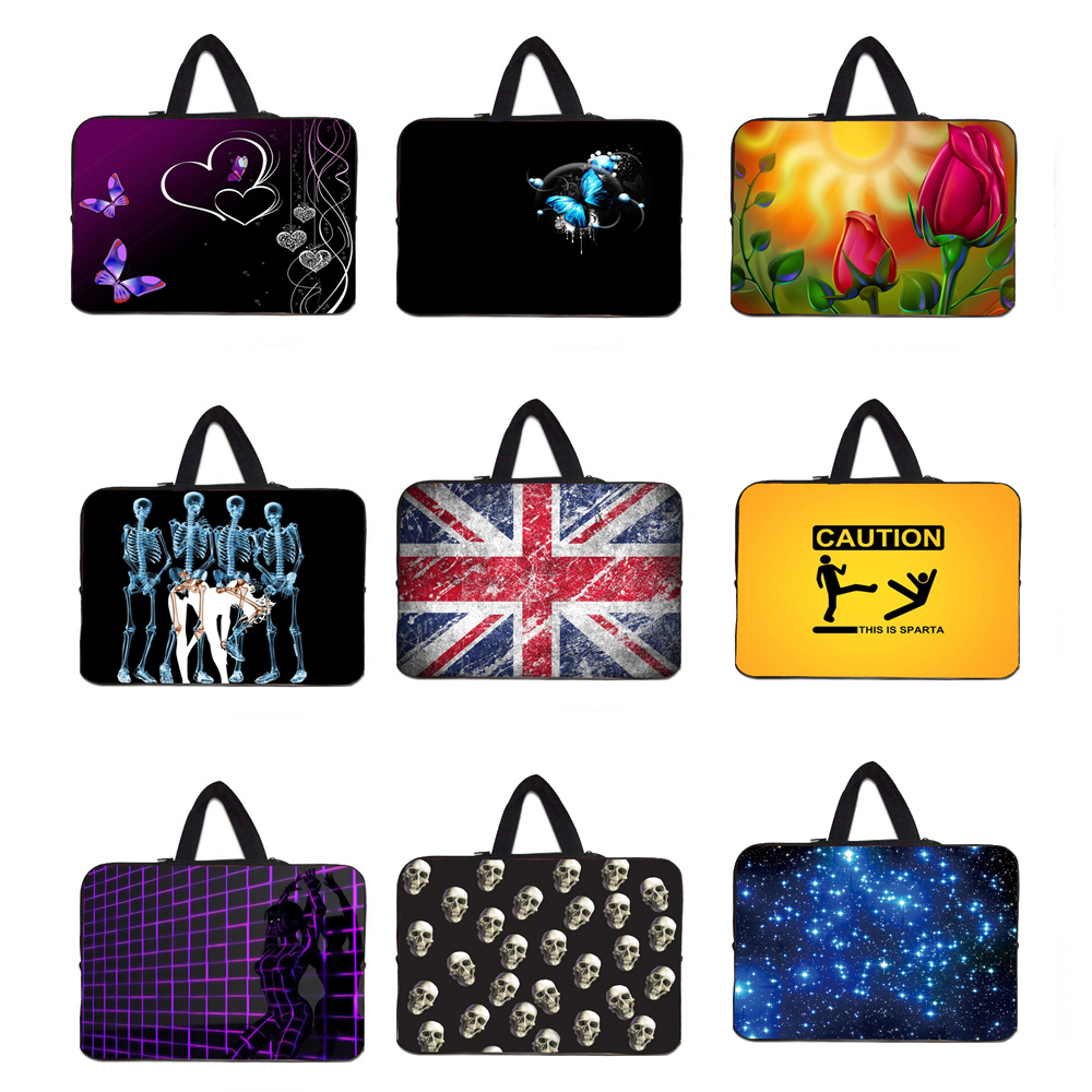 Mini Tablet 7 10 12 13 15 Neoprene Bag Carry Handle Cases Cover Sleeve Pouch Soft Bolsos Computer Laptop Accessories Protective(China (Mainland))
