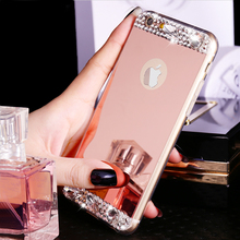 "Buy Luxury Gold Bling Glitter Diamond Soft TPU Phone Case iPhone 7 & 7 Plus iPhone 6 6S 4.7"" Plus 5.5"" Silicone Back Cover for $2.34 in AliExpress store"