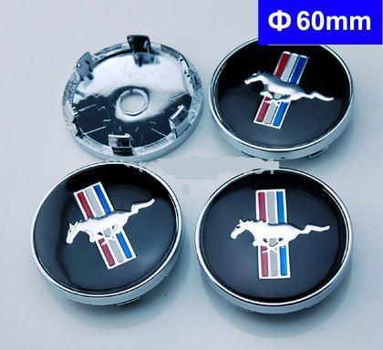 4pcs 60mm Car Emblem Badge Wheel Hub Caps Black Mustang Cobra Jet Shelby(China (Mainland))