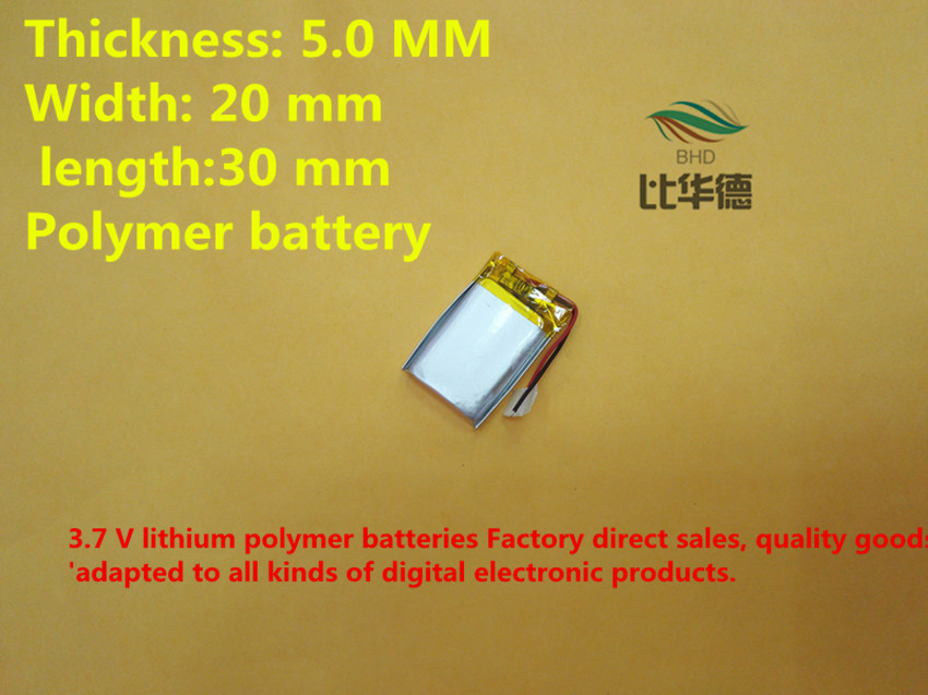 Free shipping 3.7V lithium polymer battery 052030 502030 250mah MP3 MP4 MP5 toy battery<br><br>Aliexpress