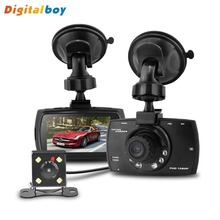 New G30B Dual Lens Car DVR H.264 Front Camera Full HD Car Camera Recorder 1280*1080P External Rear Camera 720*480P Dash Cam(China (Mainland))