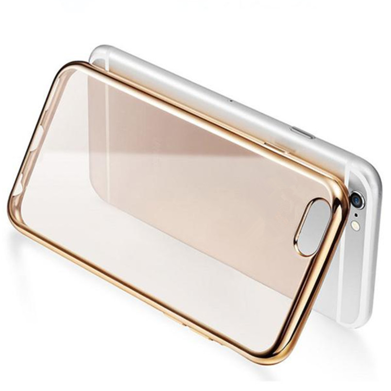 2017 Universal Clear Crystal Back cover Rubber TPU Soft Case cover for IPhone 6s 4.7 Inch IOS Mobile phone cases(China (Mainland))