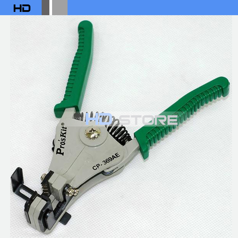 Proskit CP-369AE Fiber stripping pliers Stripping coatings Crimping Pliers Wire Stripper 0.5/1.2/1.6/2.0mm free shipping(China (Mainland))